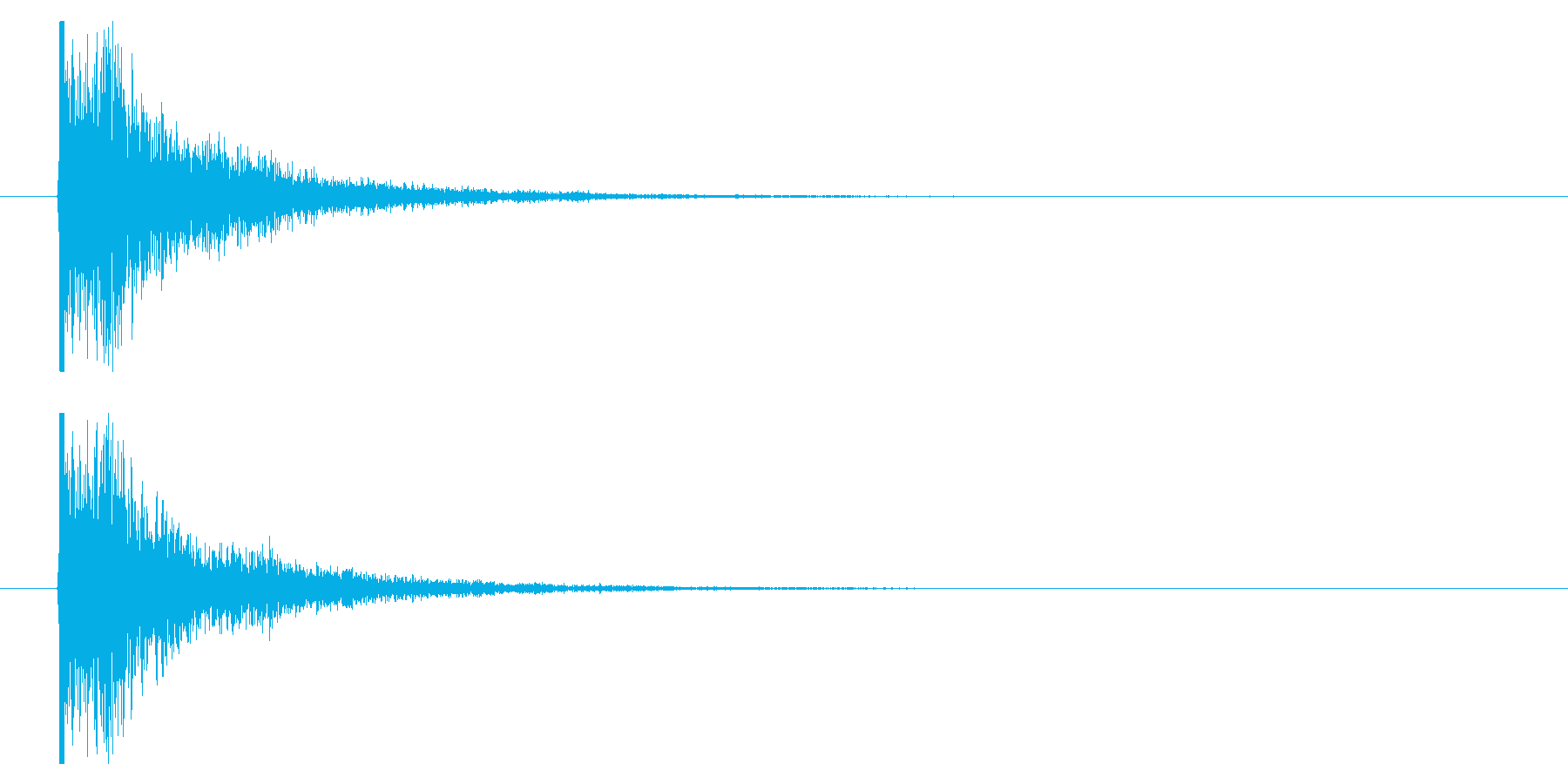 打撃09-5の再生済みの波形