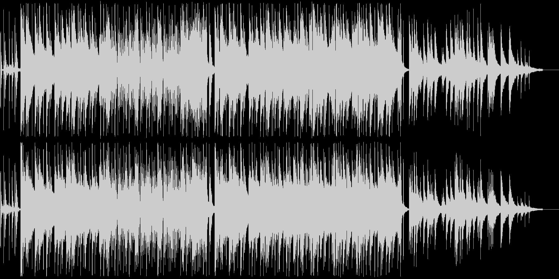 ピアノが中心の落ち着いたR&Bの未再生の波形