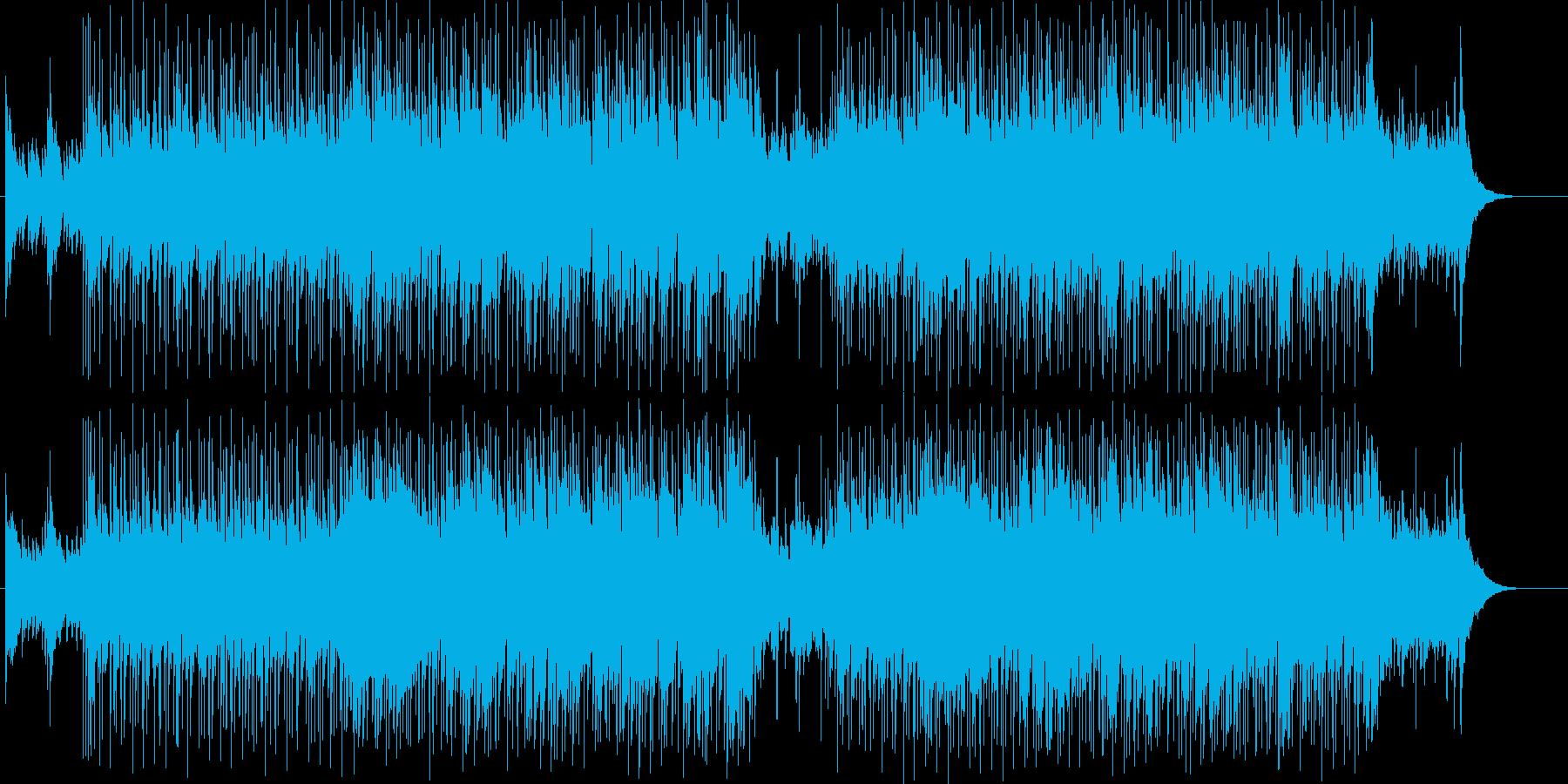 デリケートでシンプルなフォーク・ロック調の再生済みの波形