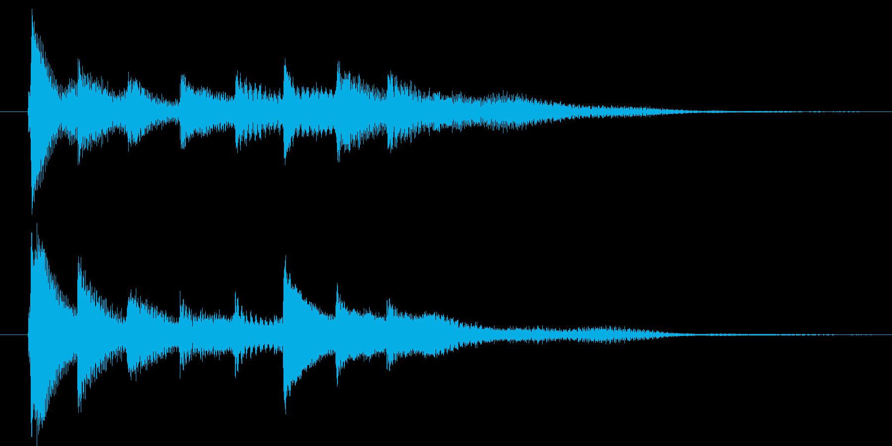 ピアノ転回音9の再生済みの波形