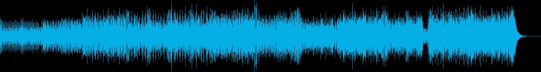 人型アンドロイドイメージのテクノポップの再生済みの波形