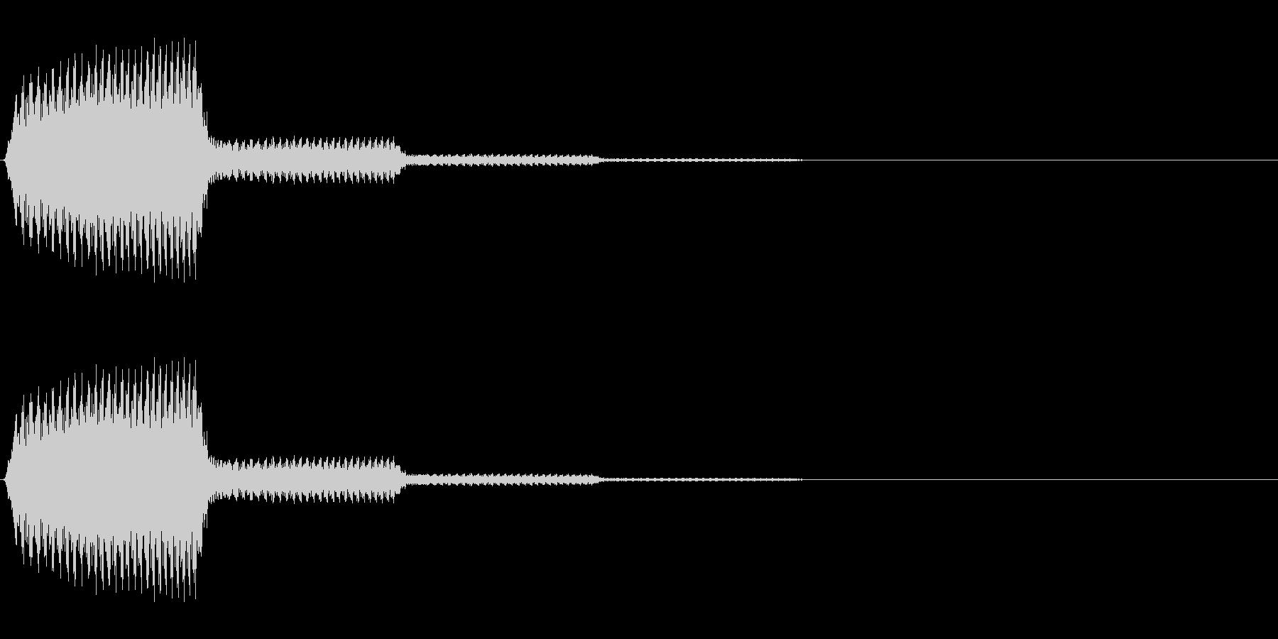 アラームのようなシステム効果音の未再生の波形