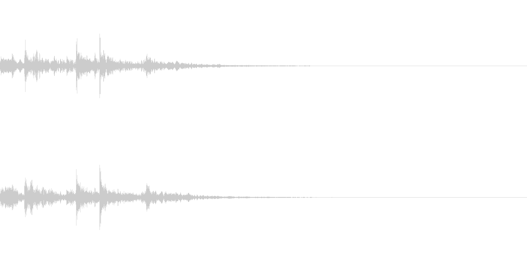 ポチャッ(水滴音の未再生の波形
