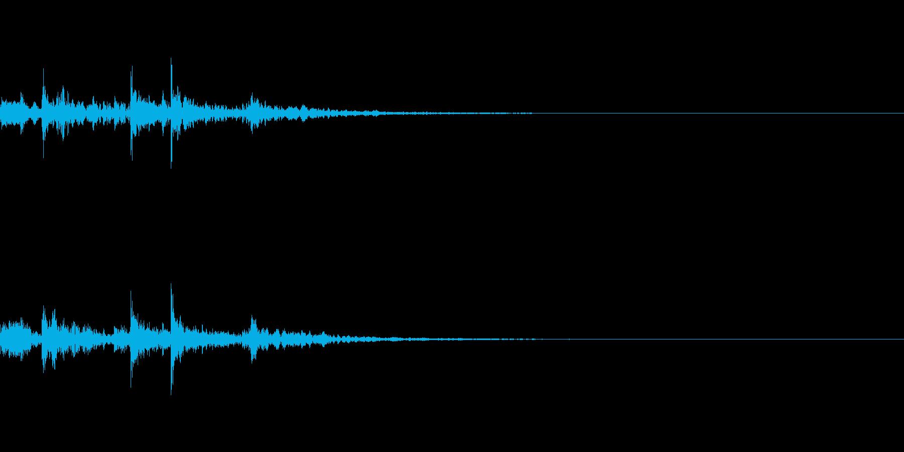ポチャッ(水滴音の再生済みの波形