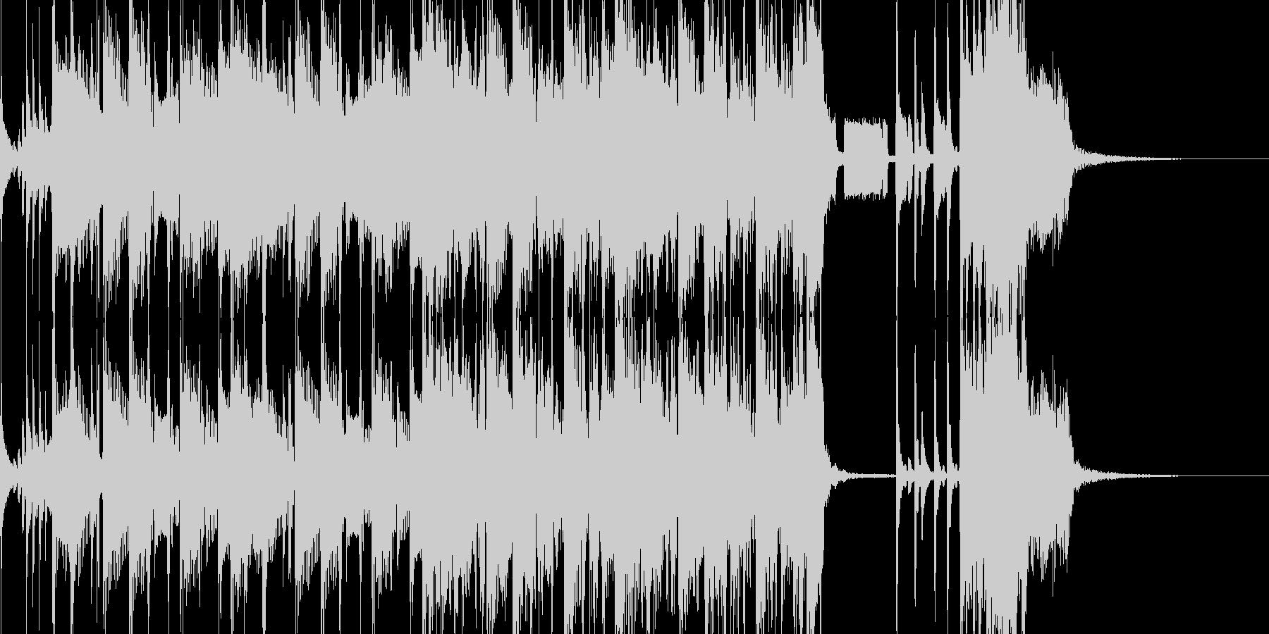 緊迫したゲームバトルシーン等(ロック)2の未再生の波形