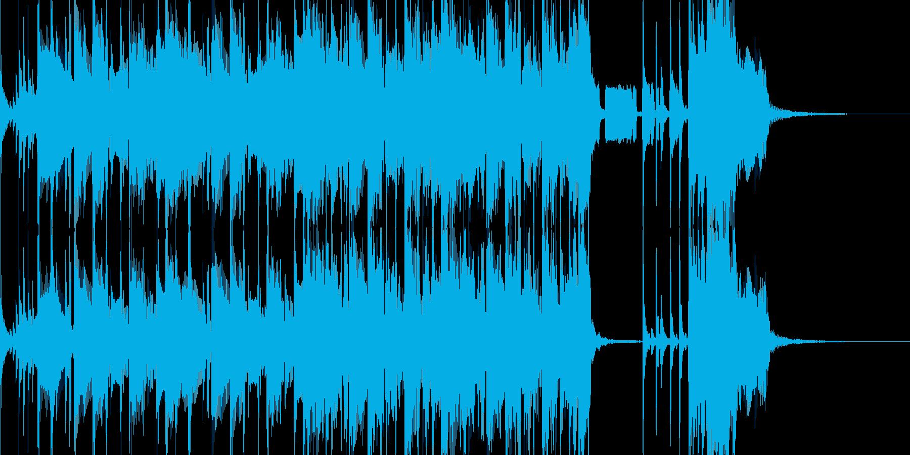 緊迫したゲームバトルシーン等(ロック)2の再生済みの波形