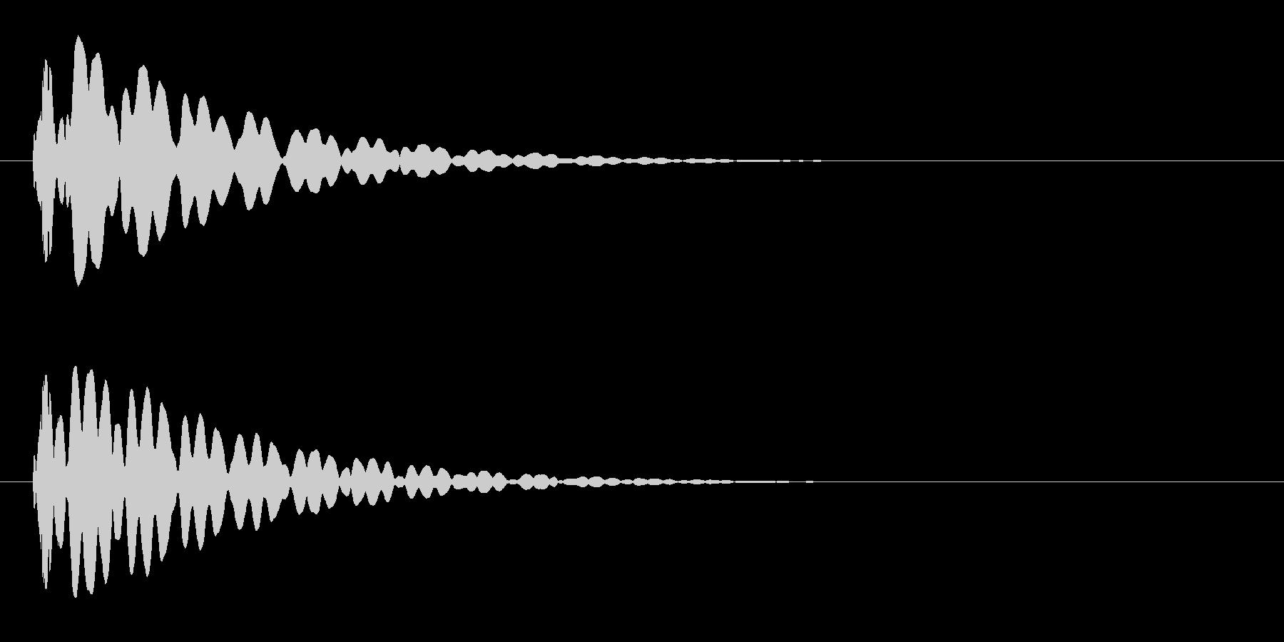 ピーン(閃いた時やテロップ音などに)の未再生の波形