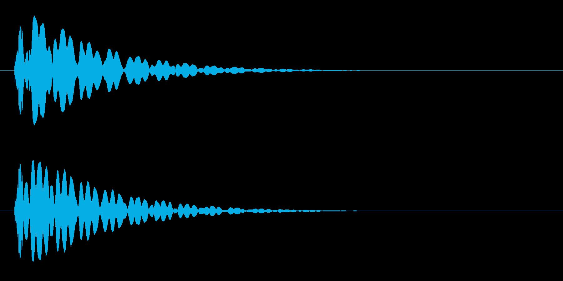 ピーン(閃いた時やテロップ音などに)の再生済みの波形