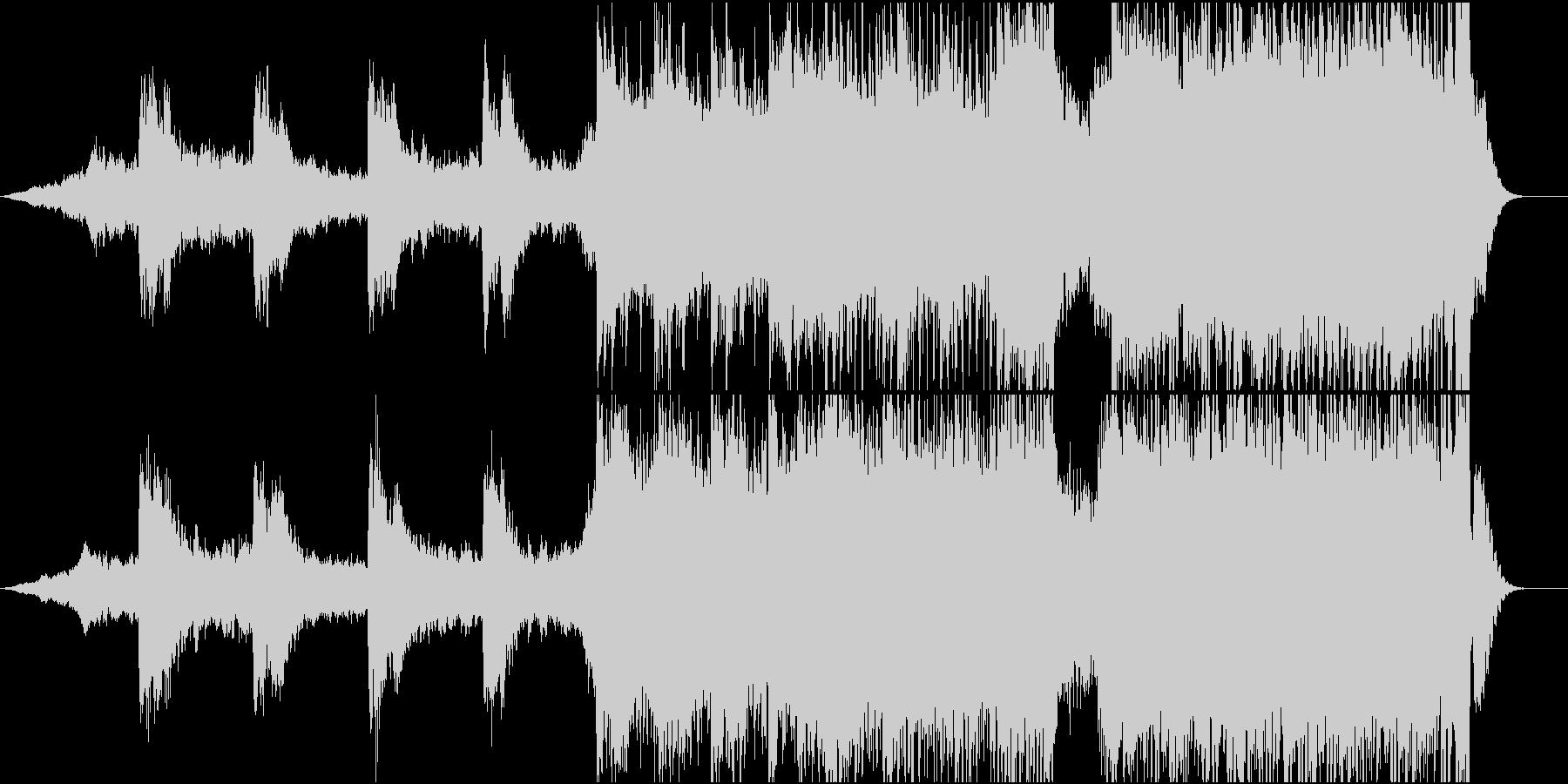 壮大な雰囲気のBGMの未再生の波形