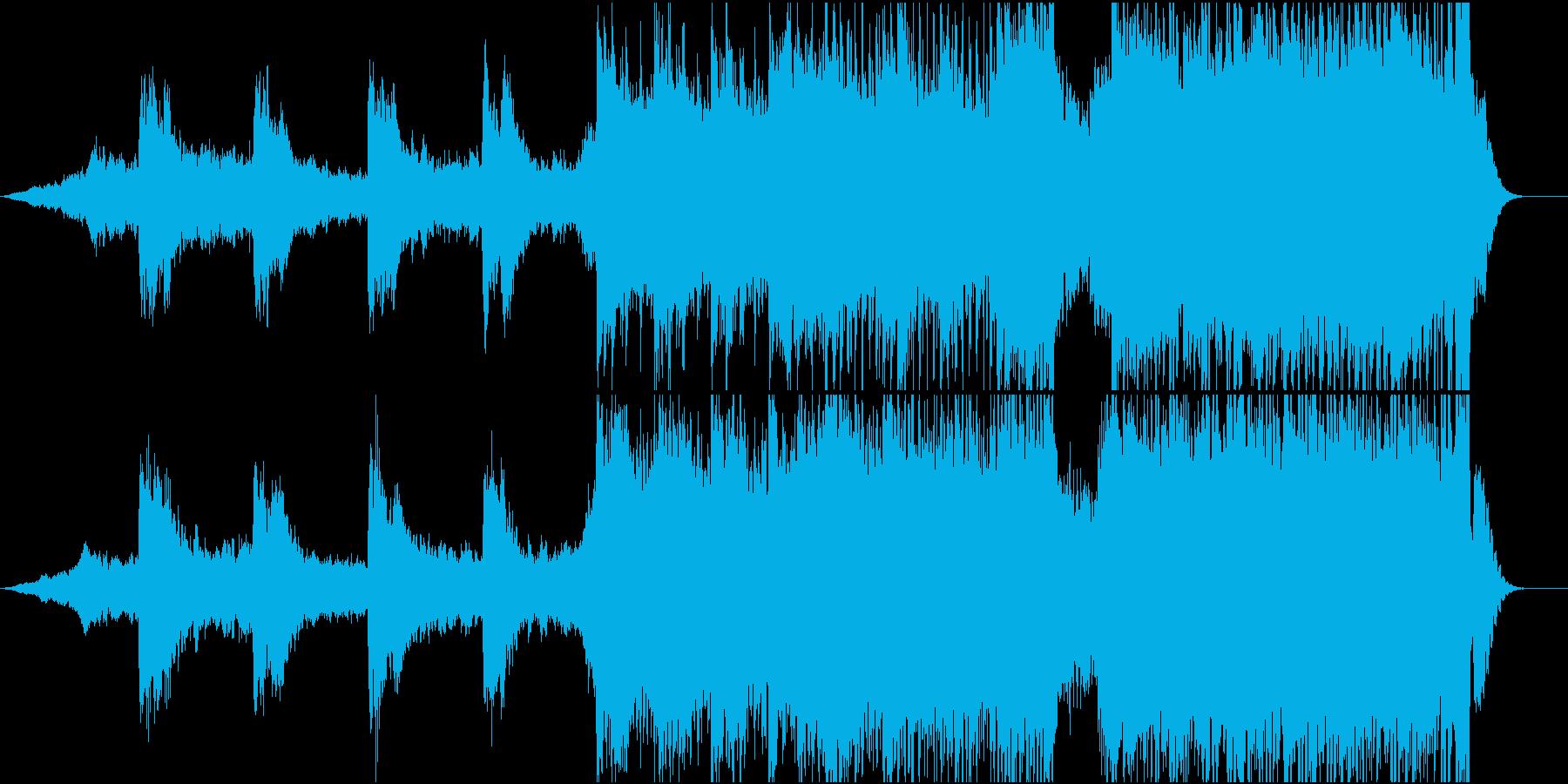 壮大な雰囲気のBGMの再生済みの波形