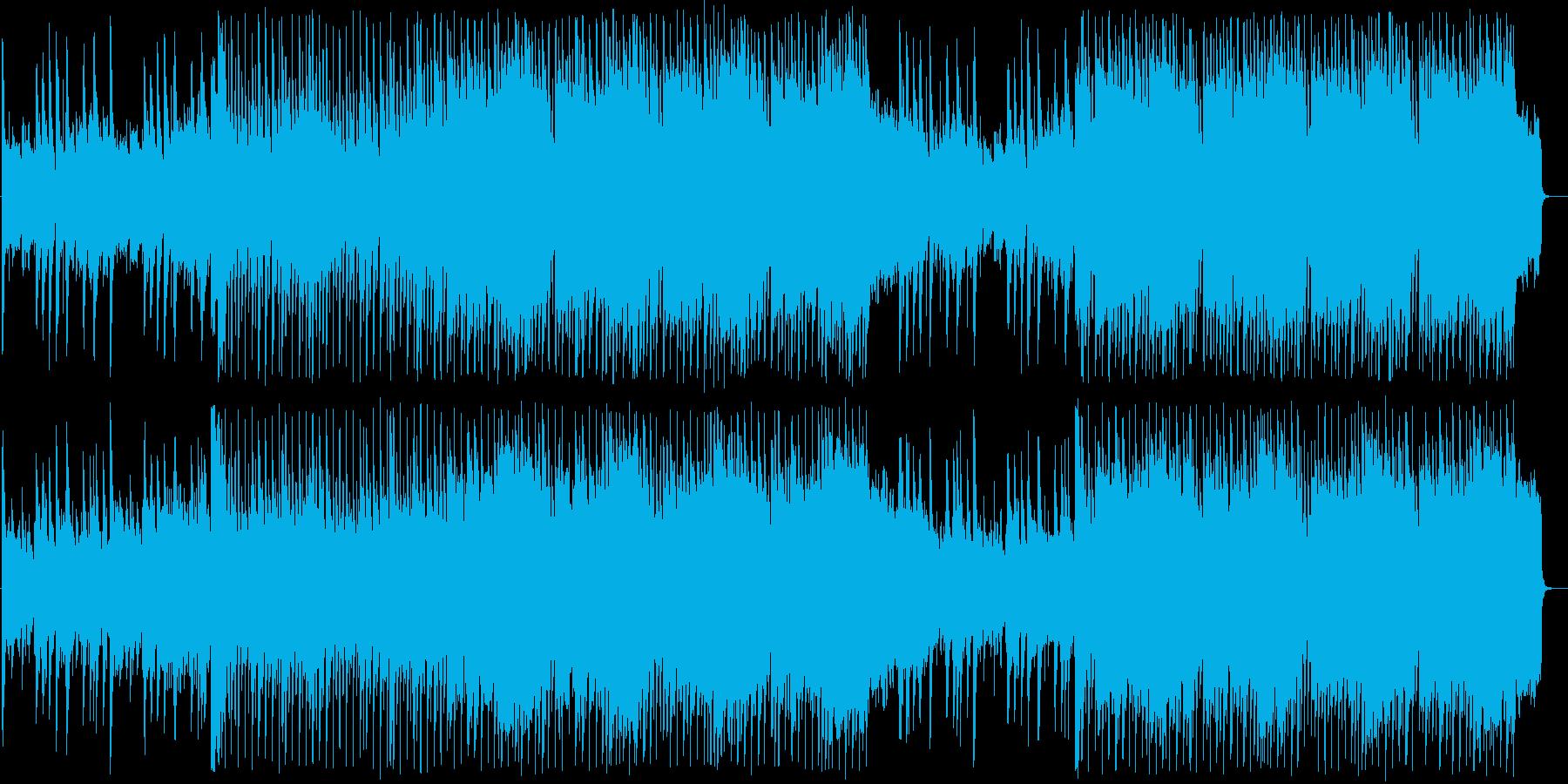 軽快なギターとピアノのカントリーポップスの再生済みの波形
