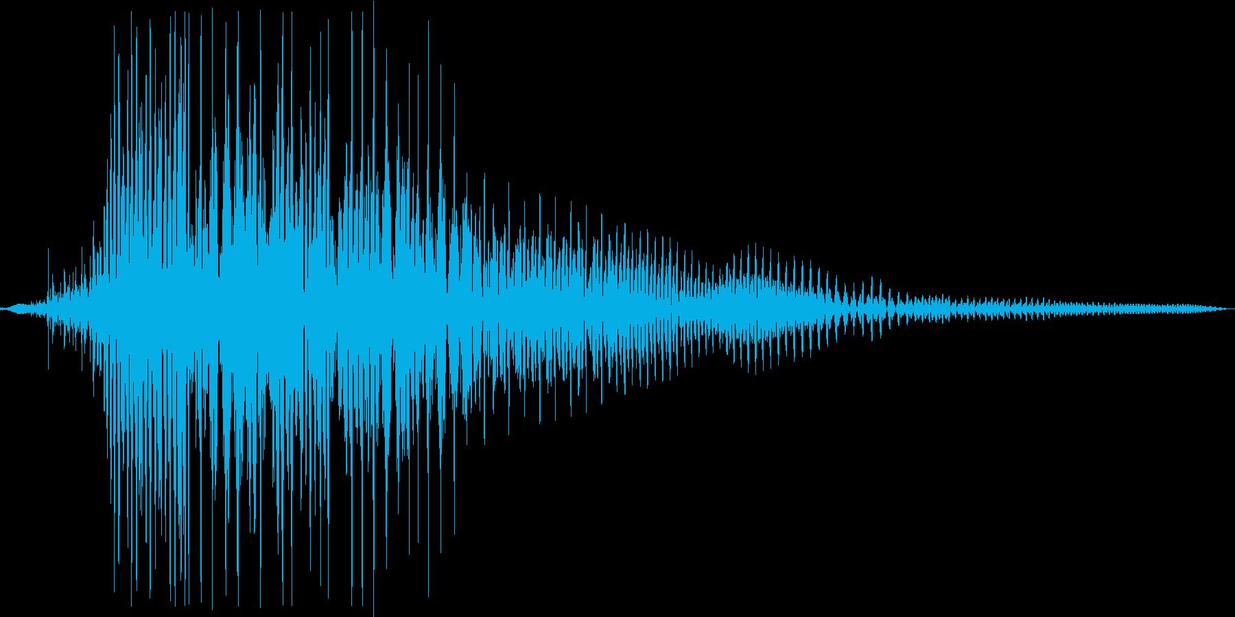 プゥ。おならの音(高め・短め)の再生済みの波形