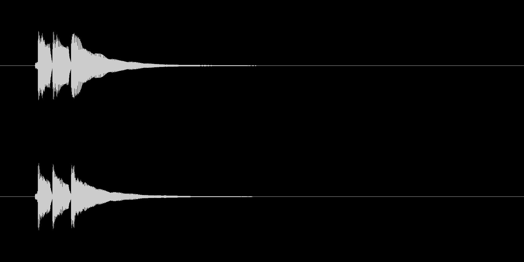 三味線の効果音(単音)パターン2の未再生の波形