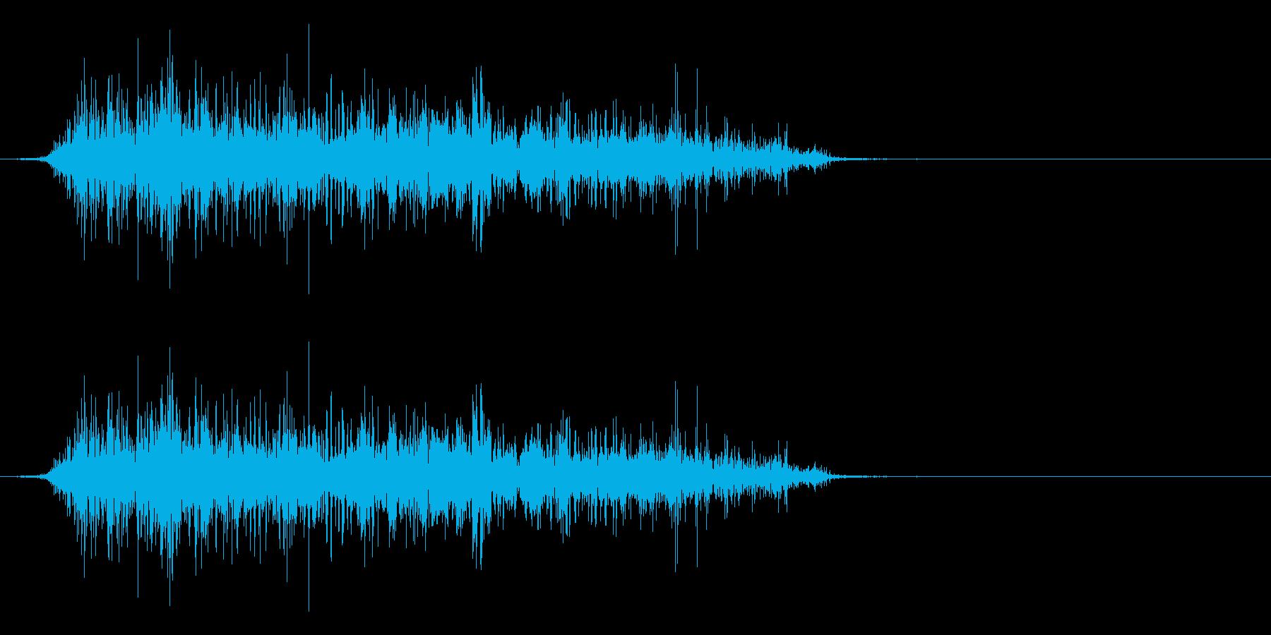 怪獣 長めの鳴き声  グアアアアアの再生済みの波形