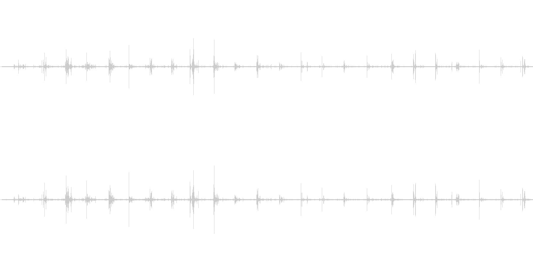 【生音】歩く・砂利 - 1 「じゃり・…の未再生の波形