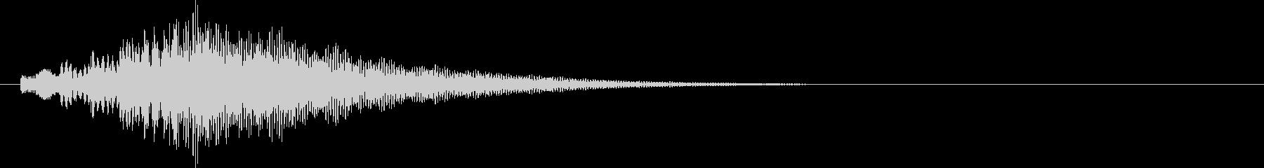 アラーム音11 ハープ(maj7)の未再生の波形