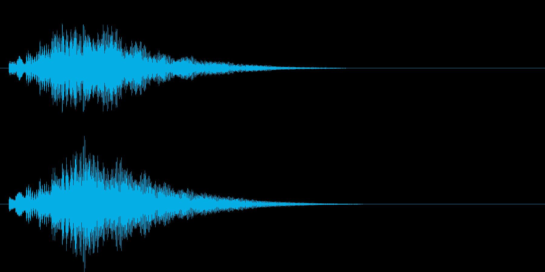 アラーム音11 ハープ(maj7)の再生済みの波形