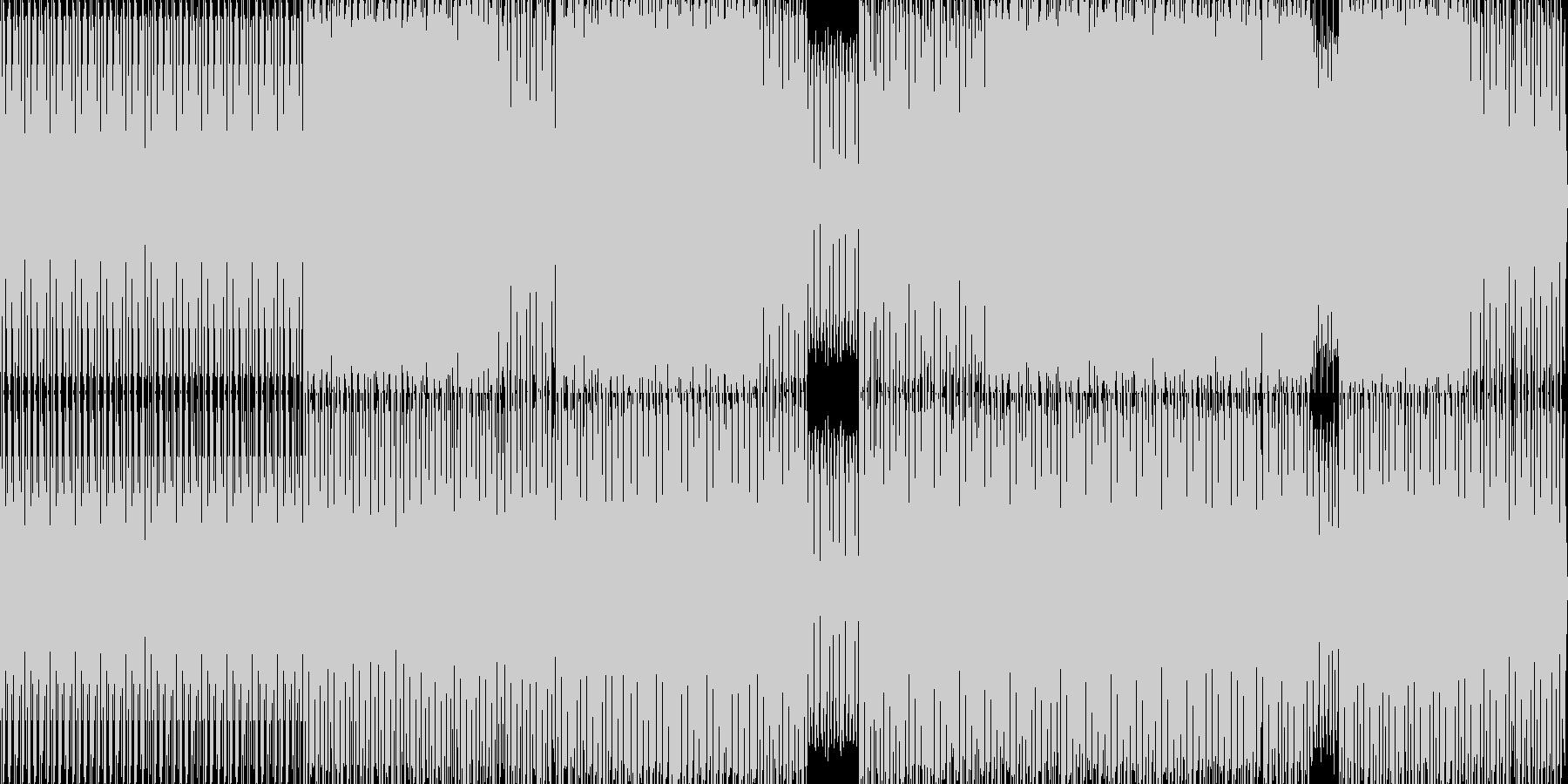 暗めなミニマルテクノの未再生の波形