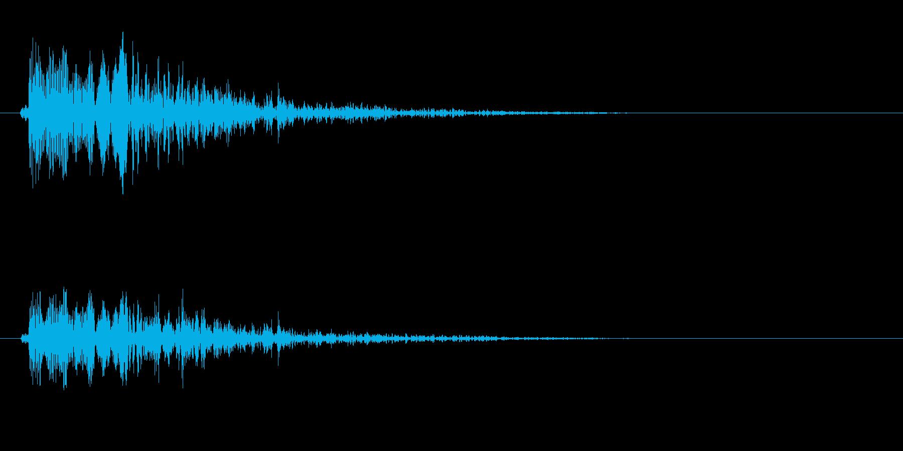 ポタッという水滴落下音の再生済みの波形