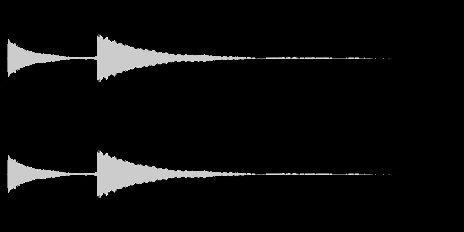 ピンポン (1)の未再生の波形
