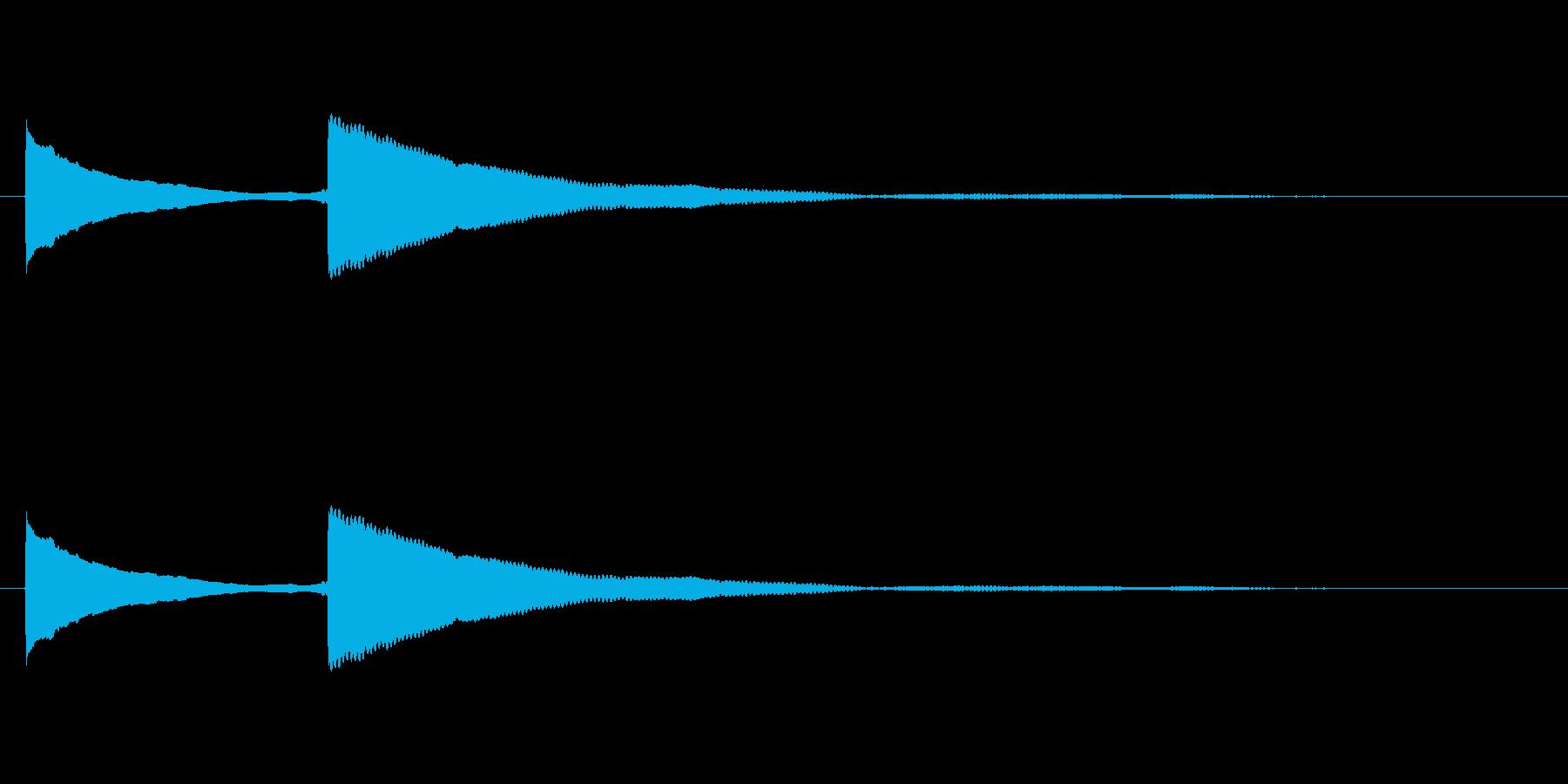 ピンポン (1)の再生済みの波形