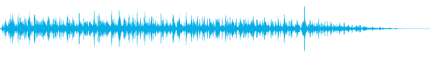 実験中のようなブクブク音の再生済みの波形