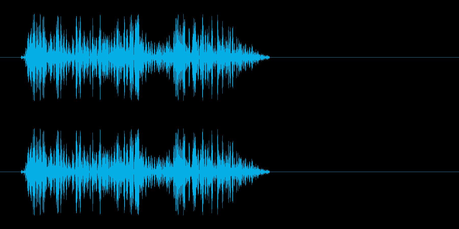 キキュッ(床を蹴ってジャンプする音)の再生済みの波形