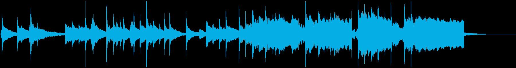 琴・尺八の和風BGMの再生済みの波形