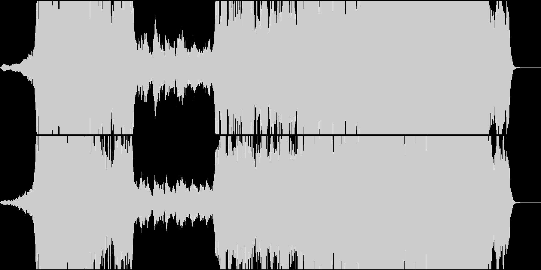 感動的フルオーケストラ曲 オープニングの未再生の波形