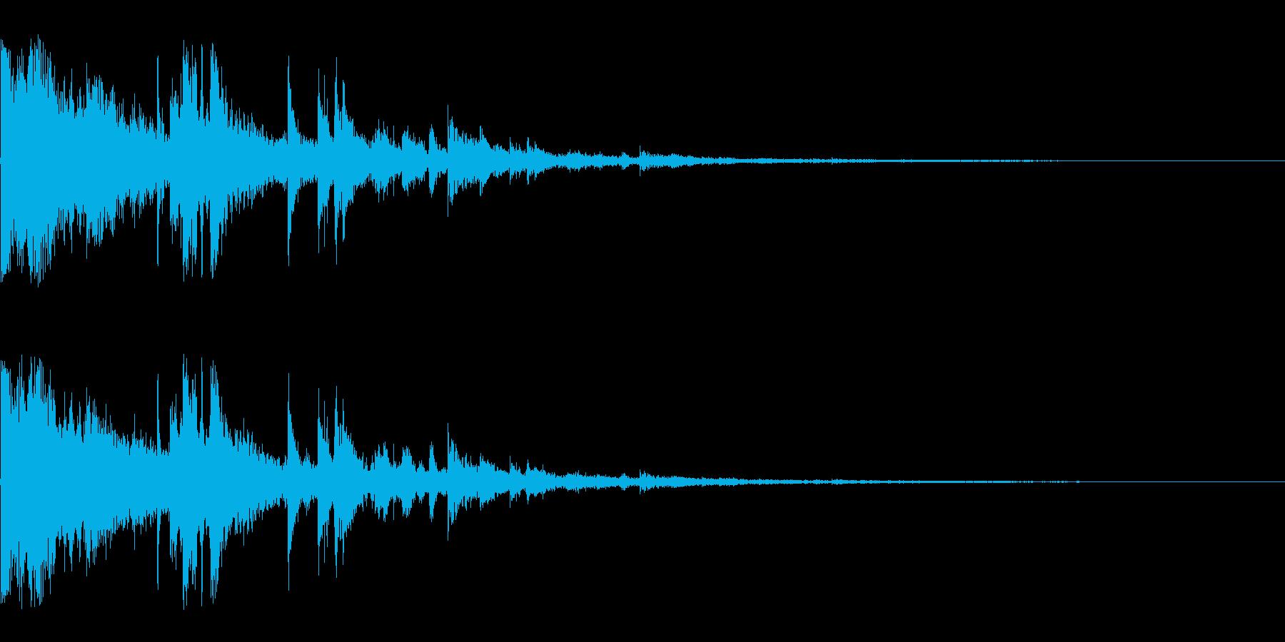 ガラスが割れる音の再生済みの波形