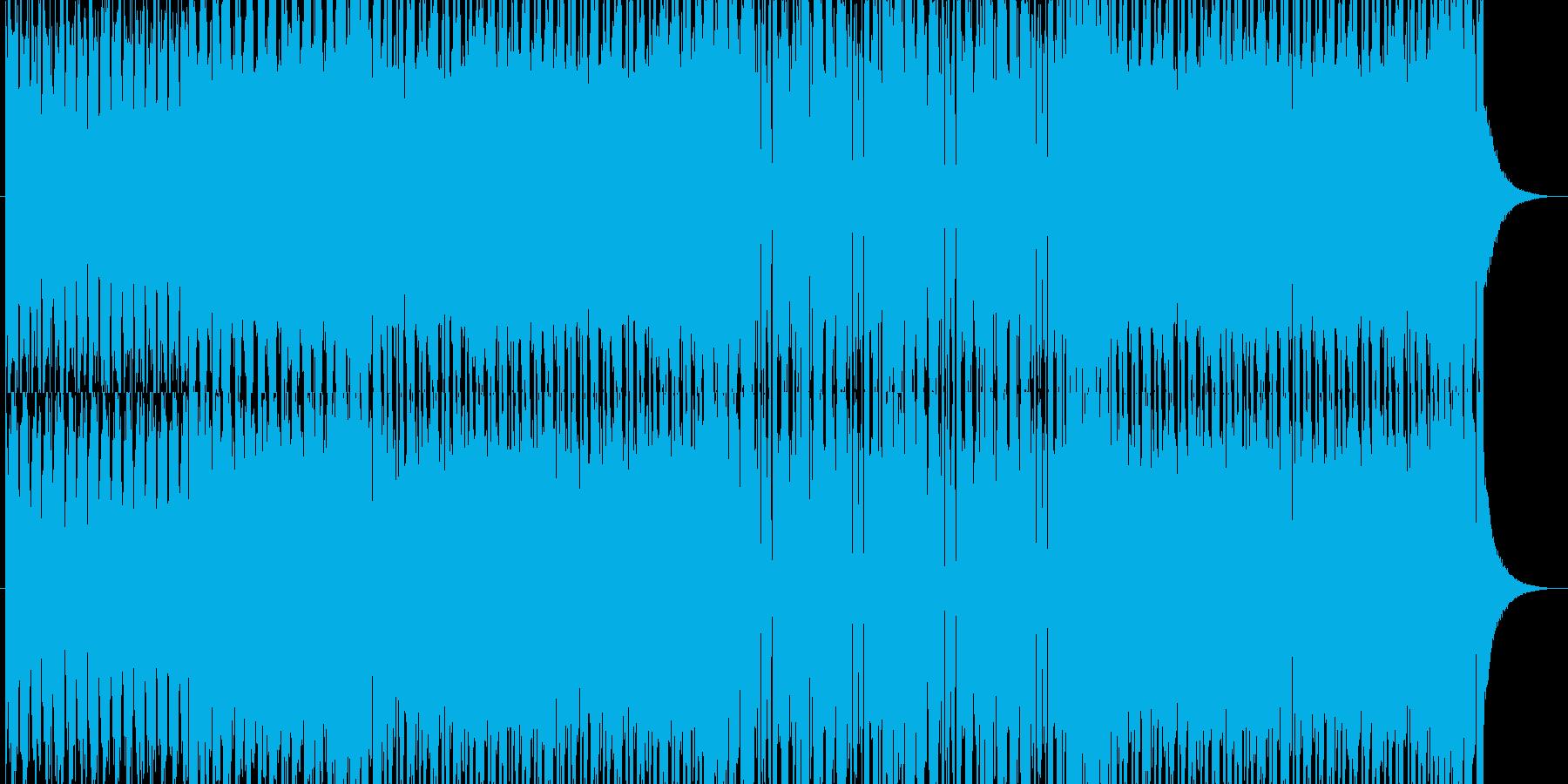 緊迫感やノリのあるテクノの再生済みの波形