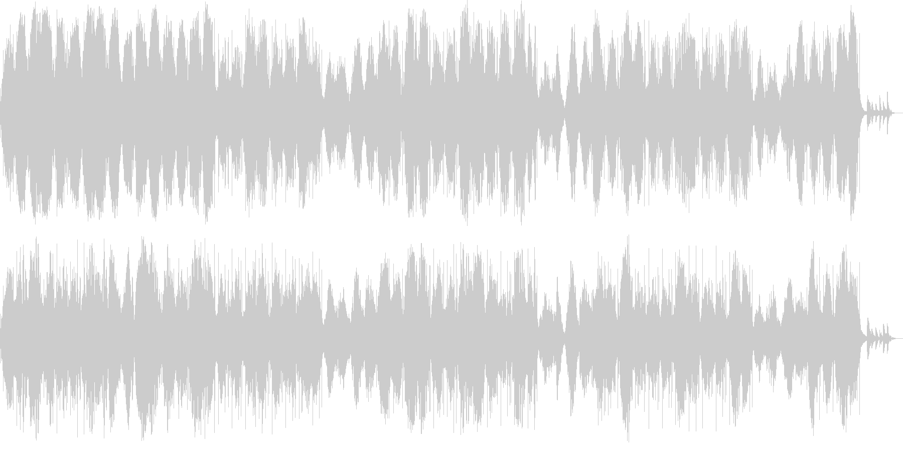 ダークで幻想的、憂鬱なアンビエントシンセの未再生の波形