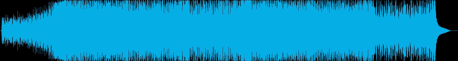 ハッピーで前向きなギターカッティングの再生済みの波形