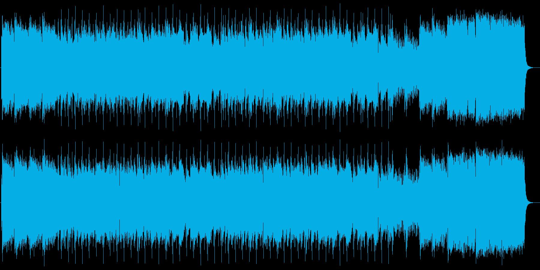バイオリンとドラムによるバラードの再生済みの波形
