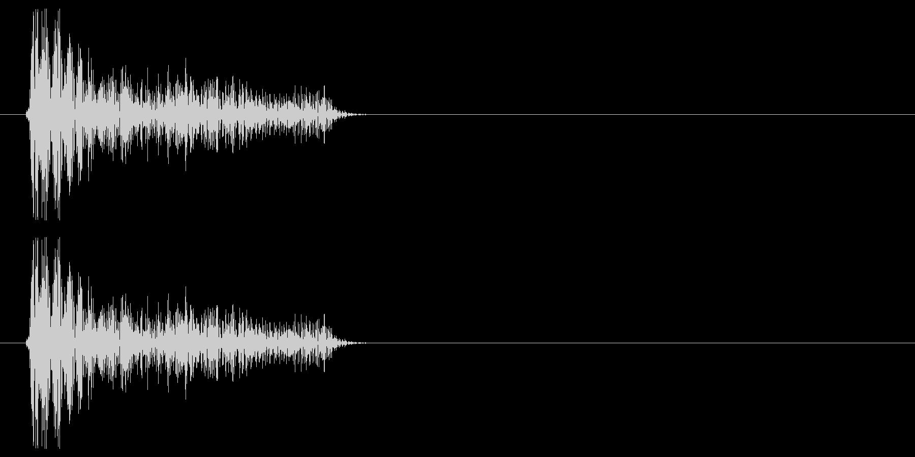 チープなドラムで作ったクリック音の未再生の波形