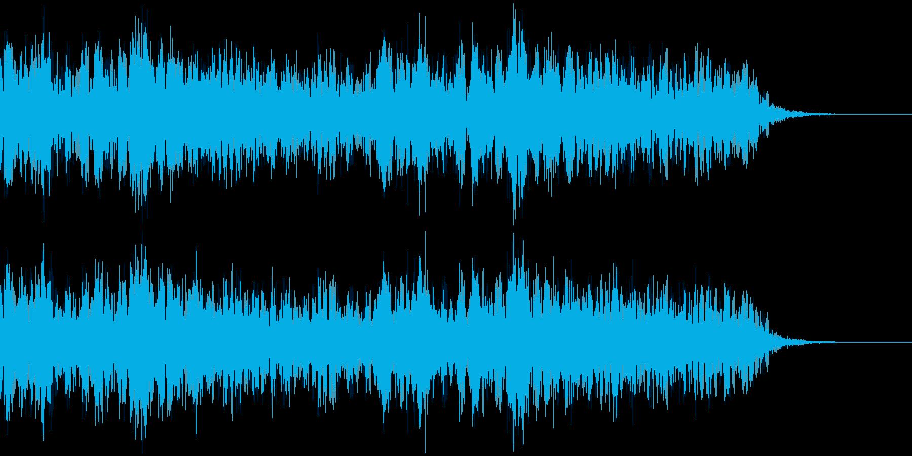 緊迫した雰囲気のSFチックなBGMの再生済みの波形