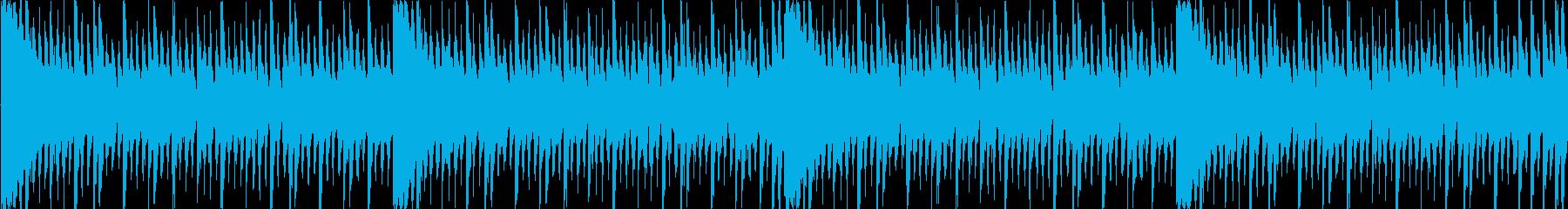 ロックテイスト溢れるループ曲ですの再生済みの波形