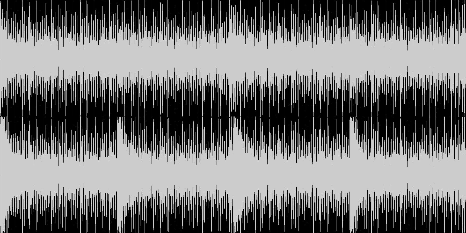 ロックテイスト溢れるループ曲ですの未再生の波形