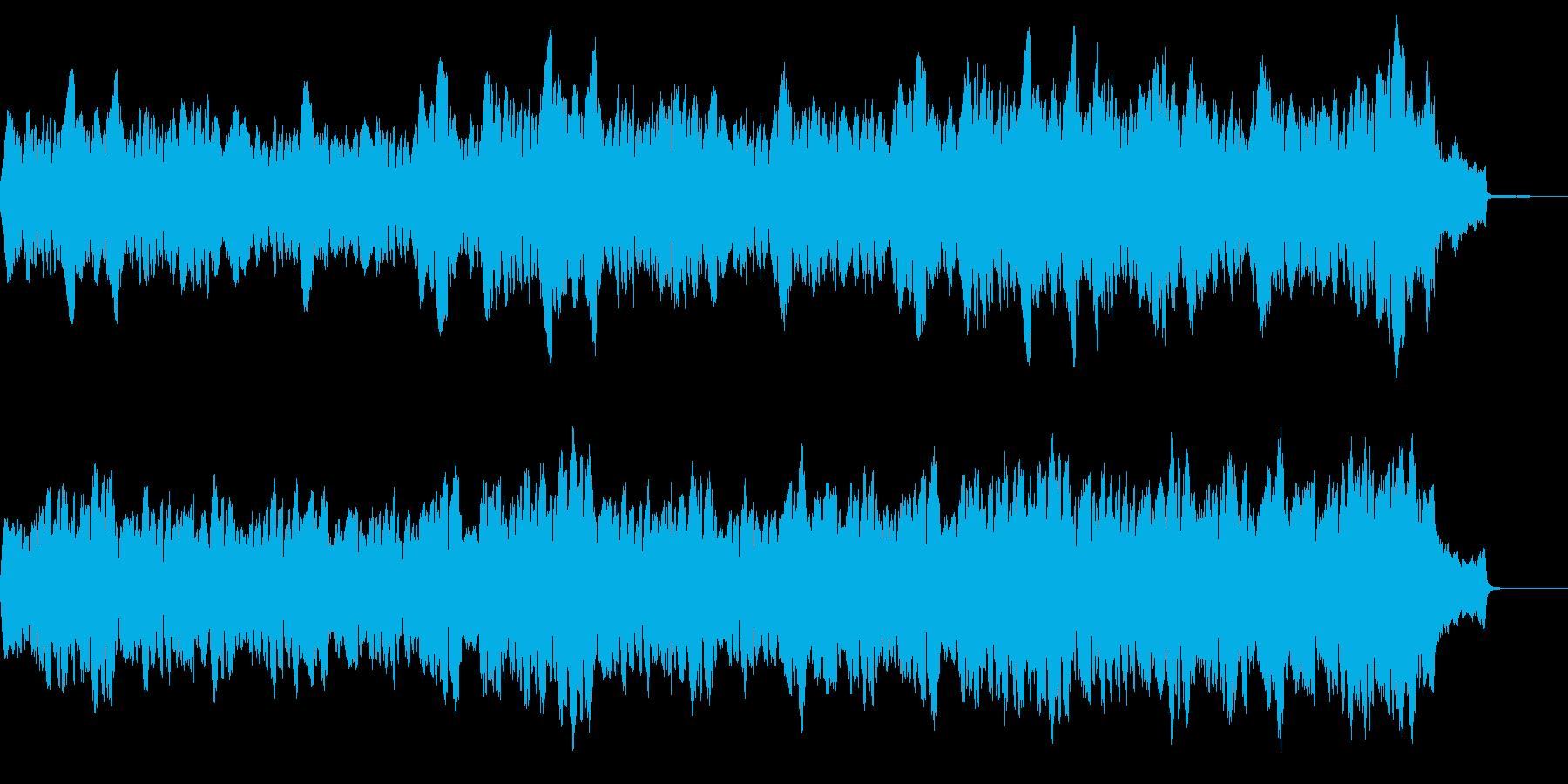 静かな繰り返しの柔らかいシンセとチェロの再生済みの波形