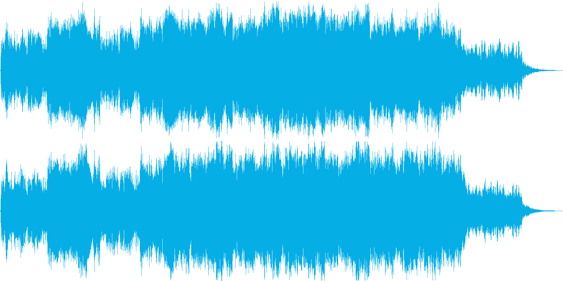 RPGのお城の式典をイメージしたBGMの再生済みの波形