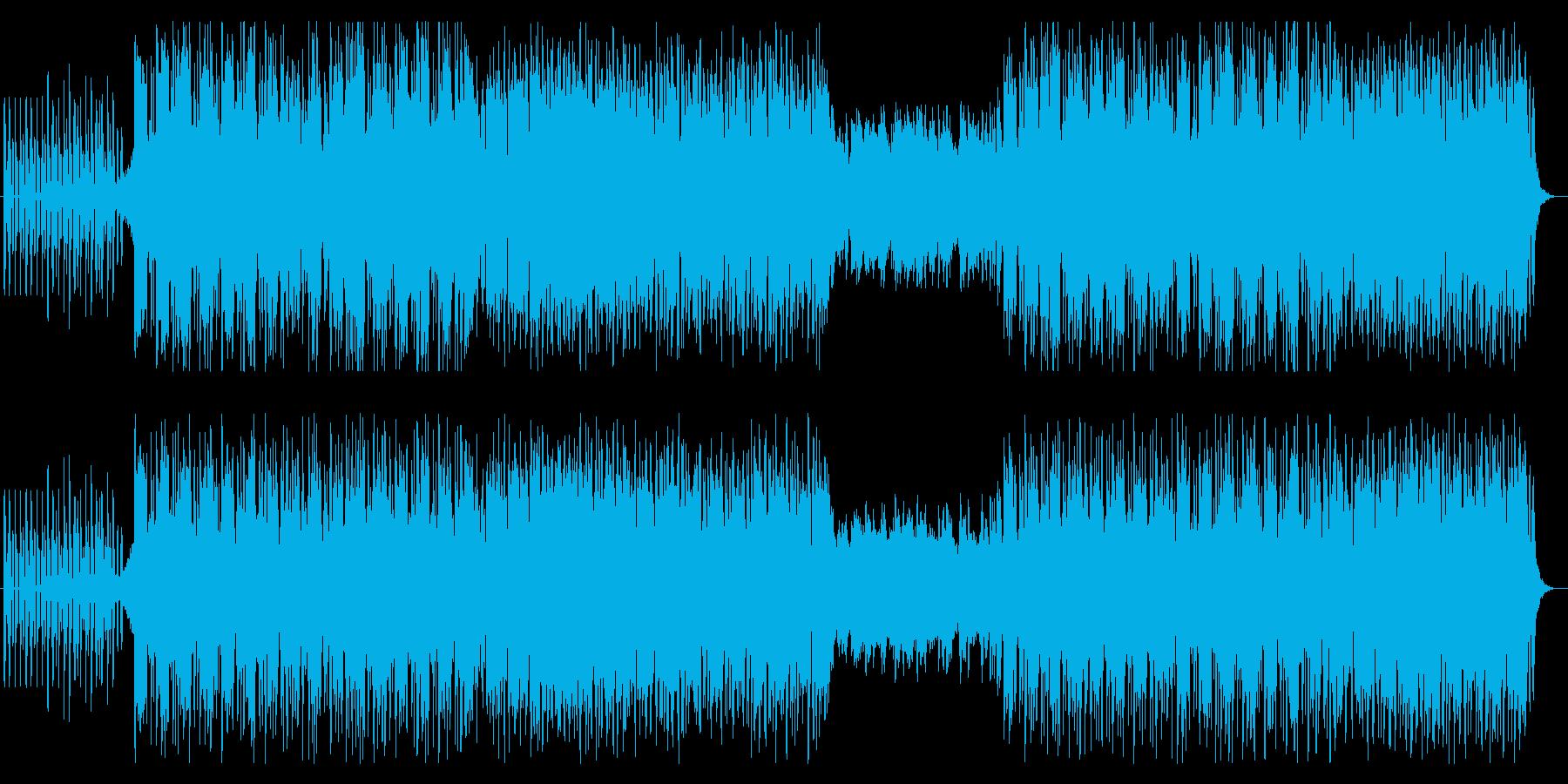 哀愁あるメロの4つ打ちエレクトロポップ風の再生済みの波形