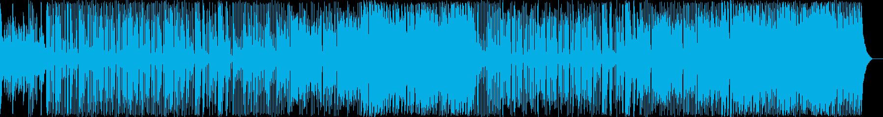軽快な和風テイストBGMの再生済みの波形