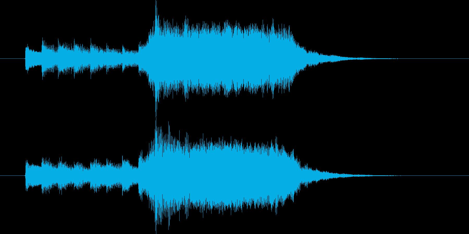情緒溢れる穏やかなピアノジングルの再生済みの波形