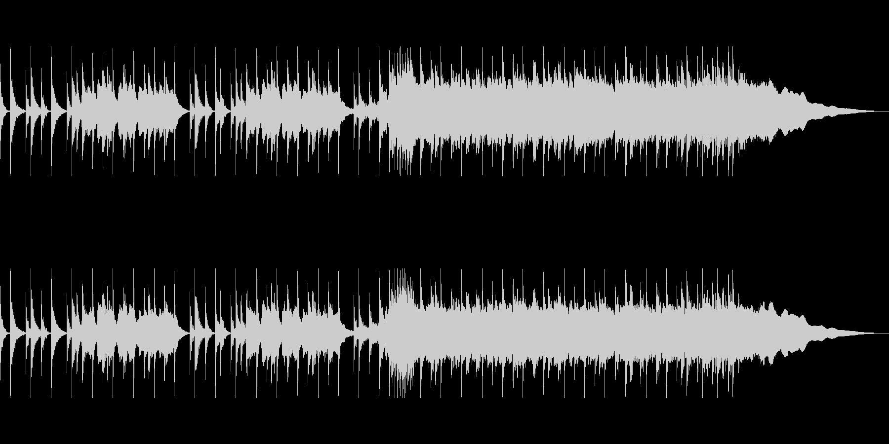 疾走感あるパンクロックCMの未再生の波形