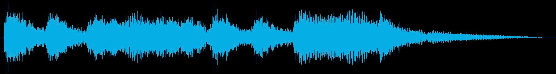 クラシックなイベント達成音ジングル1の再生済みの波形