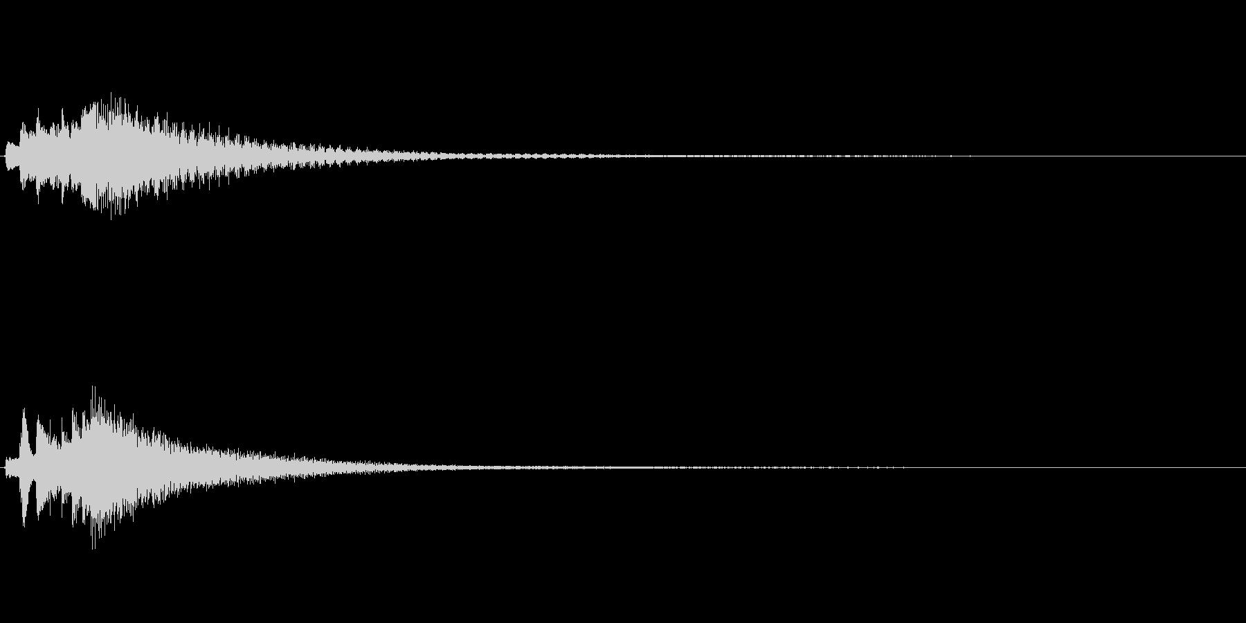 琴、陰施法、下降スケールジングルの未再生の波形