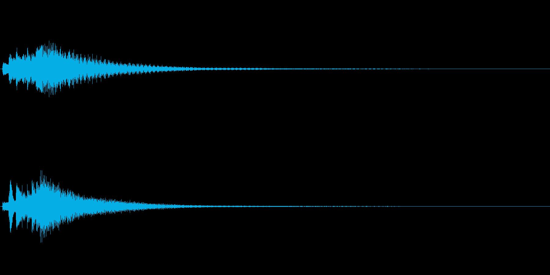 琴、陰施法、下降スケールジングルの再生済みの波形