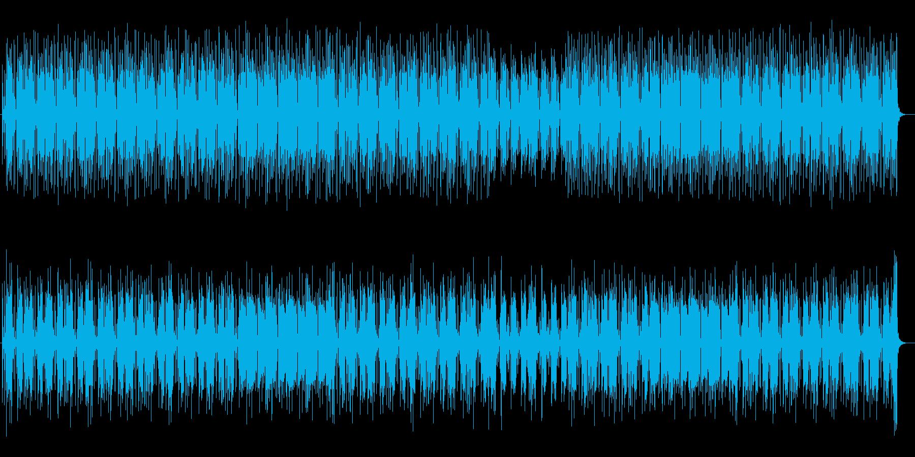 のんびりとしたシンセポップスの再生済みの波形