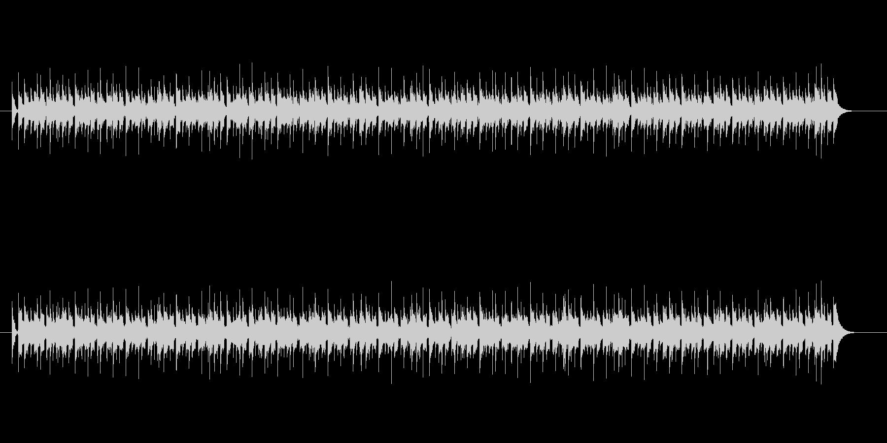 淡々と流れる8ビートの未再生の波形