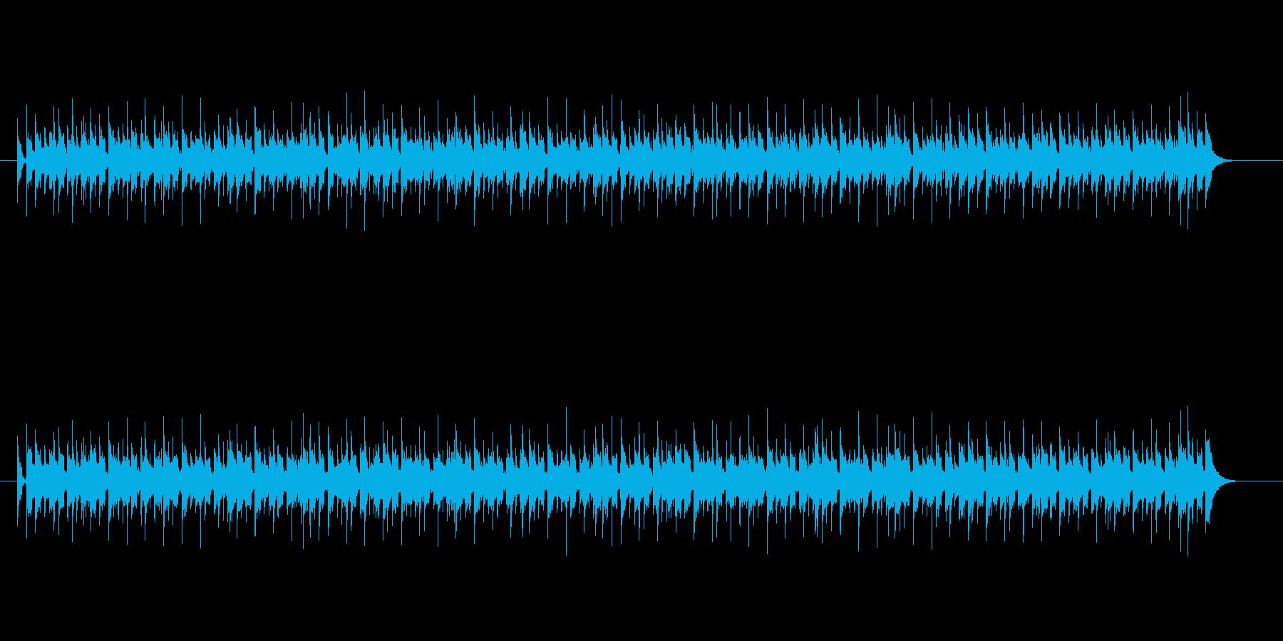 淡々と流れる8ビートの再生済みの波形